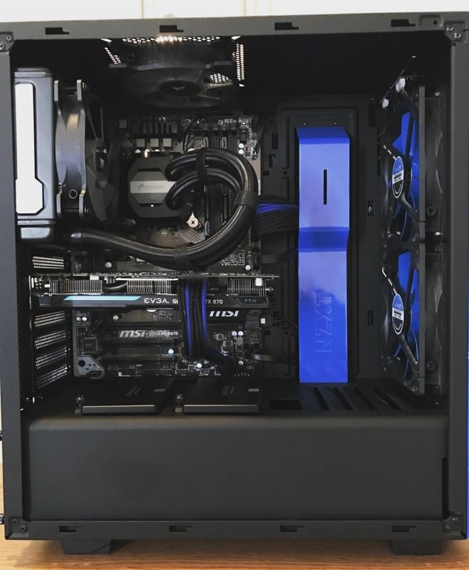 Black and Blue Build